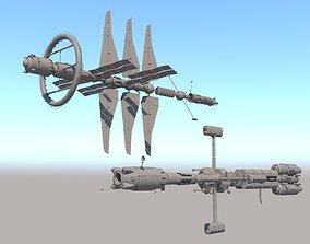 3D model Science spaceships