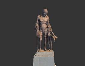 Gandhi by Harish Talim bust 3D asset