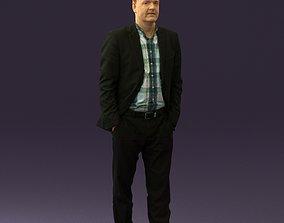 Man in opened suit 0571 3D model