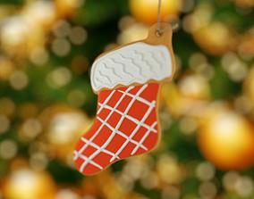 Christmas sock 3D model realtime