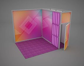 3D Exhibition stand octanorm maxima 4x3 m 2