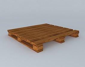 industrial Wooden pallet 3D
