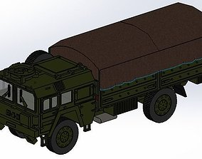 MAN KAT1 5t 4x4 with CANVAS MILITARY TRUCK - 3D PRINT 1
