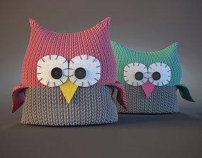 Owl pillows 3D model