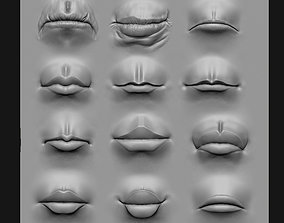 Lip Set 2 VDM Brush and Highpoly 3D model