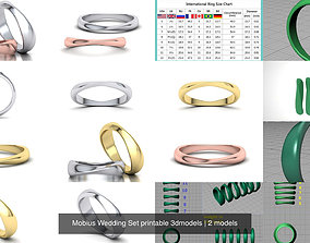 Mobius Wedding Set printable 3dmodels