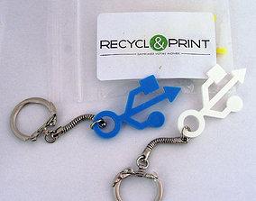 3D print model USB keychain