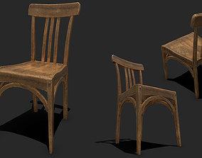 3D asset Old Wooden Chair PBR