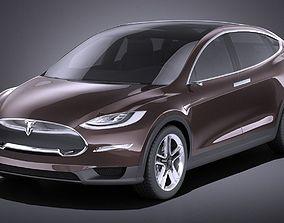 3D Tesla Model X 2015 VRAY