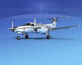 3D model Beechcraft UC-12Q Huron V06 USAF