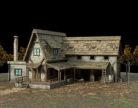 3D model Farm House - low poly