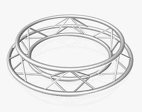 Circle Triangular Truss Full diameter 150cm 3D model