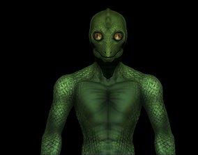 Reptilian Alien - Classic Lizard-Man - 3D asset