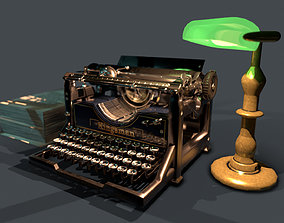 3D model rigged Old Typewriter