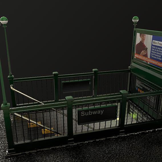 Subway Entrance - Street Props