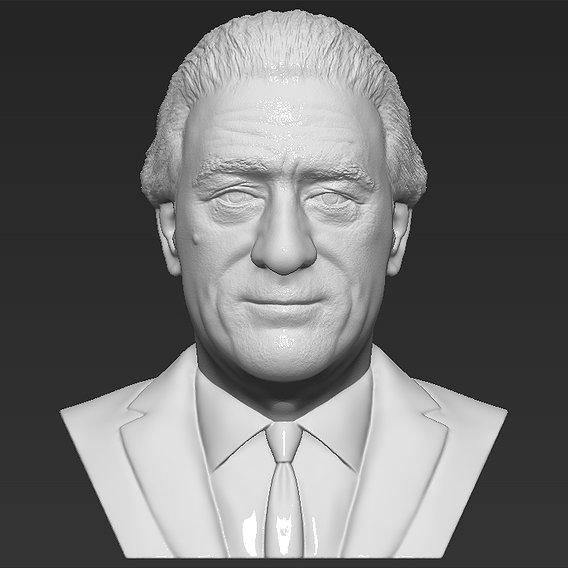 Robert De Niro bust for 3D printing