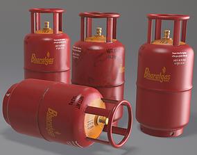 tank Gas Cylinder 3D asset low-poly