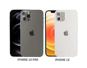 3D model iPhone 12 and iPhone 12 pro