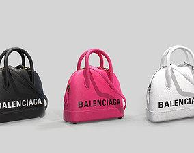 3D model Balenciaga Ville Top Handle XXS Bag Leather