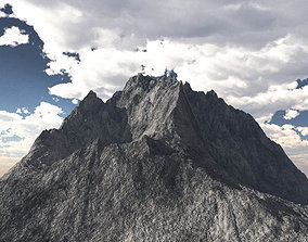 Rocky Mountain Range Peak High Poly 3D Model