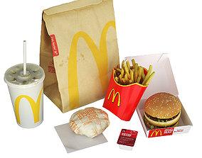 3D model McDonalds Meal
