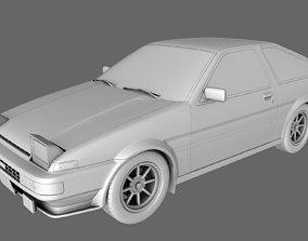 3D Toyota AE86 Sprinter Trueno