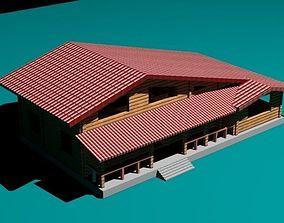 3D asset Cottage with pool