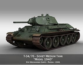 T-34-76 - Model 1940 -Soviet medium tank - 6MC 3D