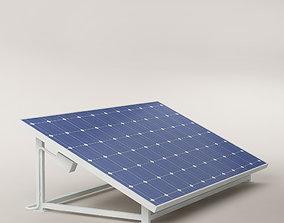roof Solar panel 01 3D