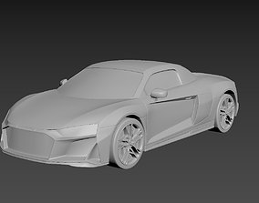 3D printable model Audi R8 2020 on a small scale