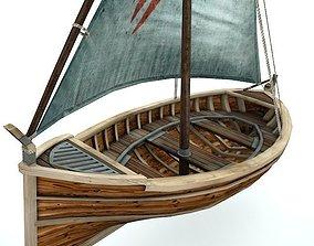 Sail Boat 3D asset