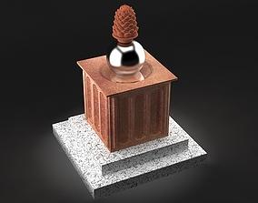 Pine Cone Statue 3D