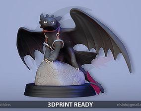 Toothless Dragon zbrush 3D print model