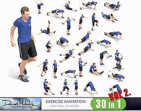 3D model 30 Exercise Animations Bundle VOL 2