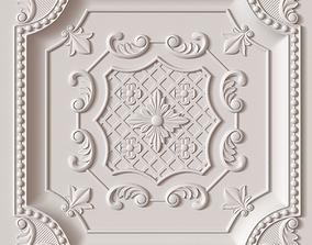 3D model Decorative Ceiling Tile wall