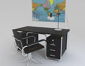 3D Bauhaus desk and chair