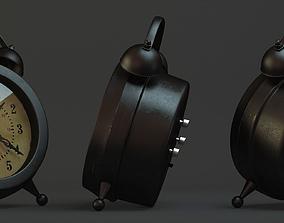 Vintage Clock High Poly Model