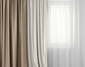 3D model Curtains and tulle