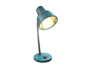 table lamp 3D asset realtime PBR