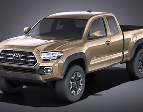 Toyota Tacoma TRD Off-Road 2018 VRAY 3D
