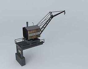 Steam-Powered Riverboat Harbor Crane 3D asset