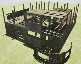 3D model Modular wood Construction pack