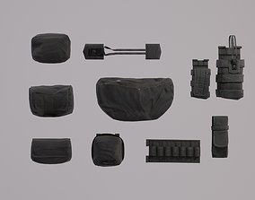 Tactical Pouches Kitbash - PBR Lowpoly Game ready 3D asset