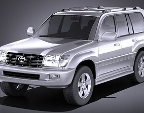 3D Toyota Land Cruiser J100 1997 2007 VRAY