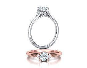 Solitaire ring half carat stone printable