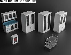 MEDICAL STORAGE FUNRITURE SET 3D model