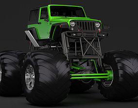 3D Monster Truck Jeep Wrangler Rubicon Recon