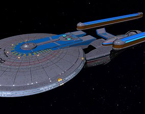 STAR TREK - USS EXCELSIOR NCC-2000 STARSHIP 3D model