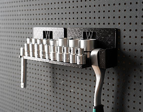 Tool Holder for Socket Wrench with 3D printable model 3
