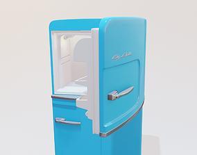 3D model retro fridge